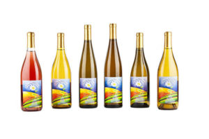 family of wine on white background