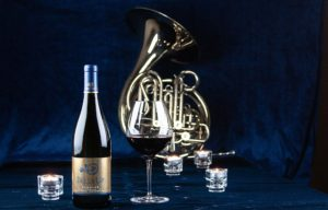 wine, wineglass, French horn