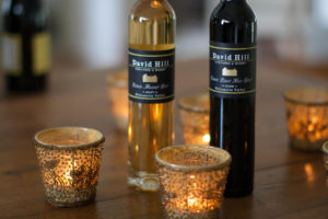 muscat wines and candlelight