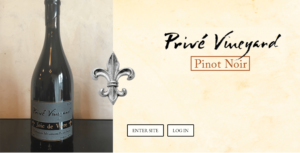 home page prive website