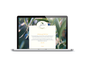 home page epicure website theme