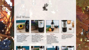 wines website page