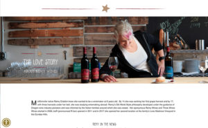 webpage with winemaker