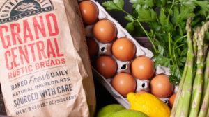 grocery basket closeup