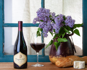 wine and lilacs