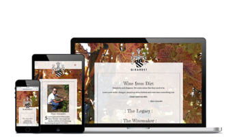 home page girardet wines website